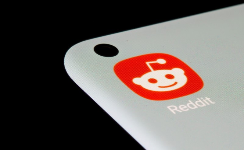 FILE PHOTO: Reddit app is seen on a smartphone in this illustration