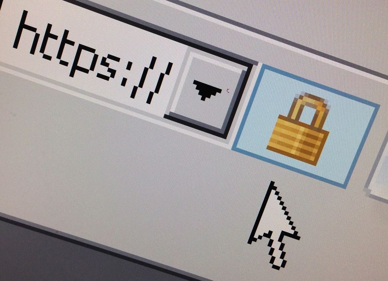 FILE PHOTO: A lock icon, signifying an encrypted Internet connection, is seen on an Internet Explorer browser in Paris