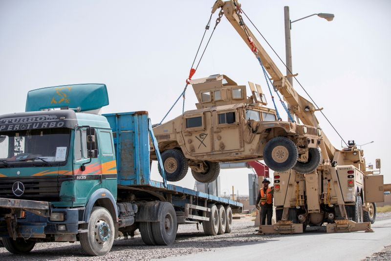 FILE PHOTO: U.S. forces prepare for withdrawal from Afghanistan