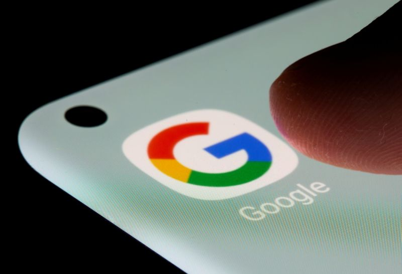 FILE PHOTO: Google app is seen on a smartphone in this illustration