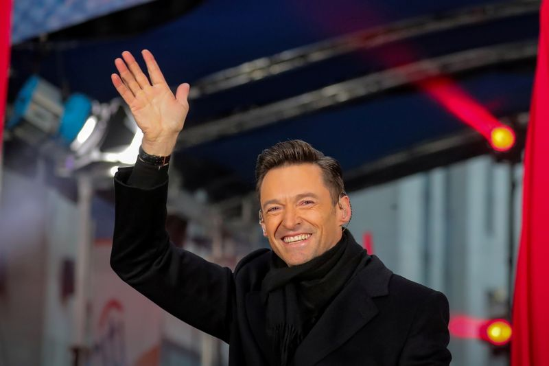 FILE PHOTO: Hugh Jackman waves on NBC's 'Today' show in New York