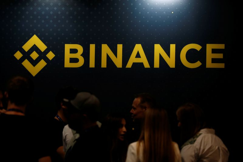 The logo of Binance is seen on their exhibition stand at the Delta Summit, Malta's official Blockchain and Digital Innovation event promoting cryptocurrency, in Ta' Qali