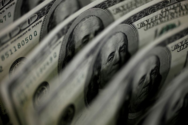 FILE PHOTO: A picture illustration shows U.S. 100-dollar bank notes