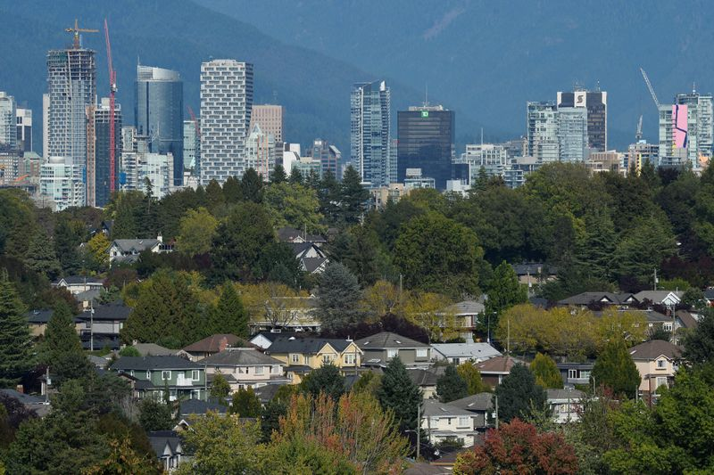 Single Family homes are seen in Vancouver