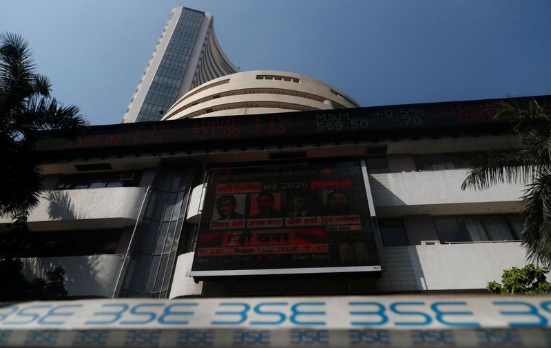 FILE PHOTO: The Bombay Stock Exchange building is seen in Mumbai