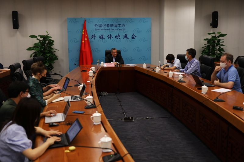 News conference on COVID-19 origin-tracking related issues, in Beijing