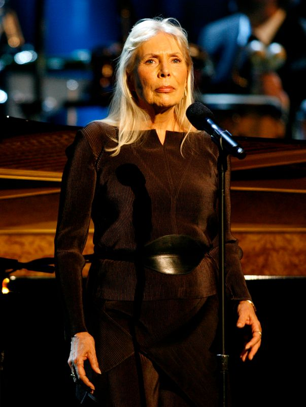 Musician Joni Mitchell performs at the Thelonious Monk Institute of Jazz International Trumpet Competition and Herbie Hancock Tribute in Hollywood