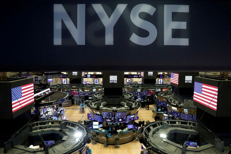 FILE PHOTO: The floor of the theNewYorkStockExchange(NYSE) is seen after the close of trading inNewYork
