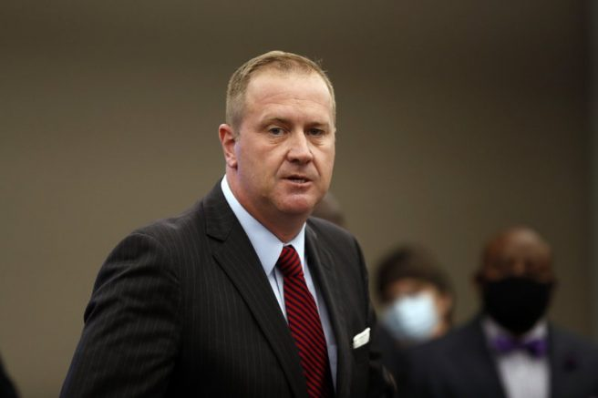 Missouri Attorney General Eric Schmitt speaks during a news conference in St. Louis. (AP Photo/Jeff Roberson, File)