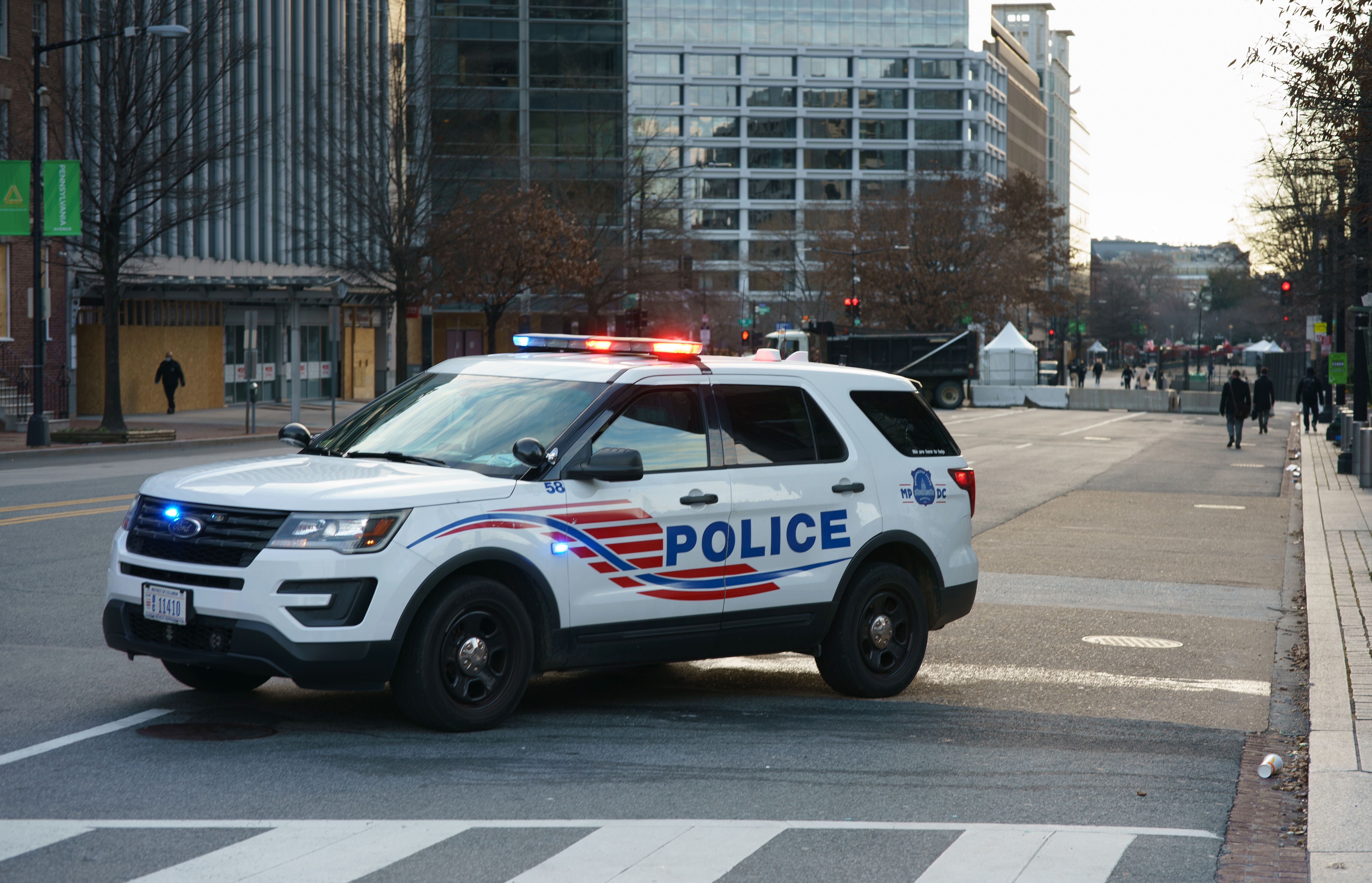 A D.C. Police car in Washington, D.C. (Photo by MANDEL NGAN/AFP via Getty Images)