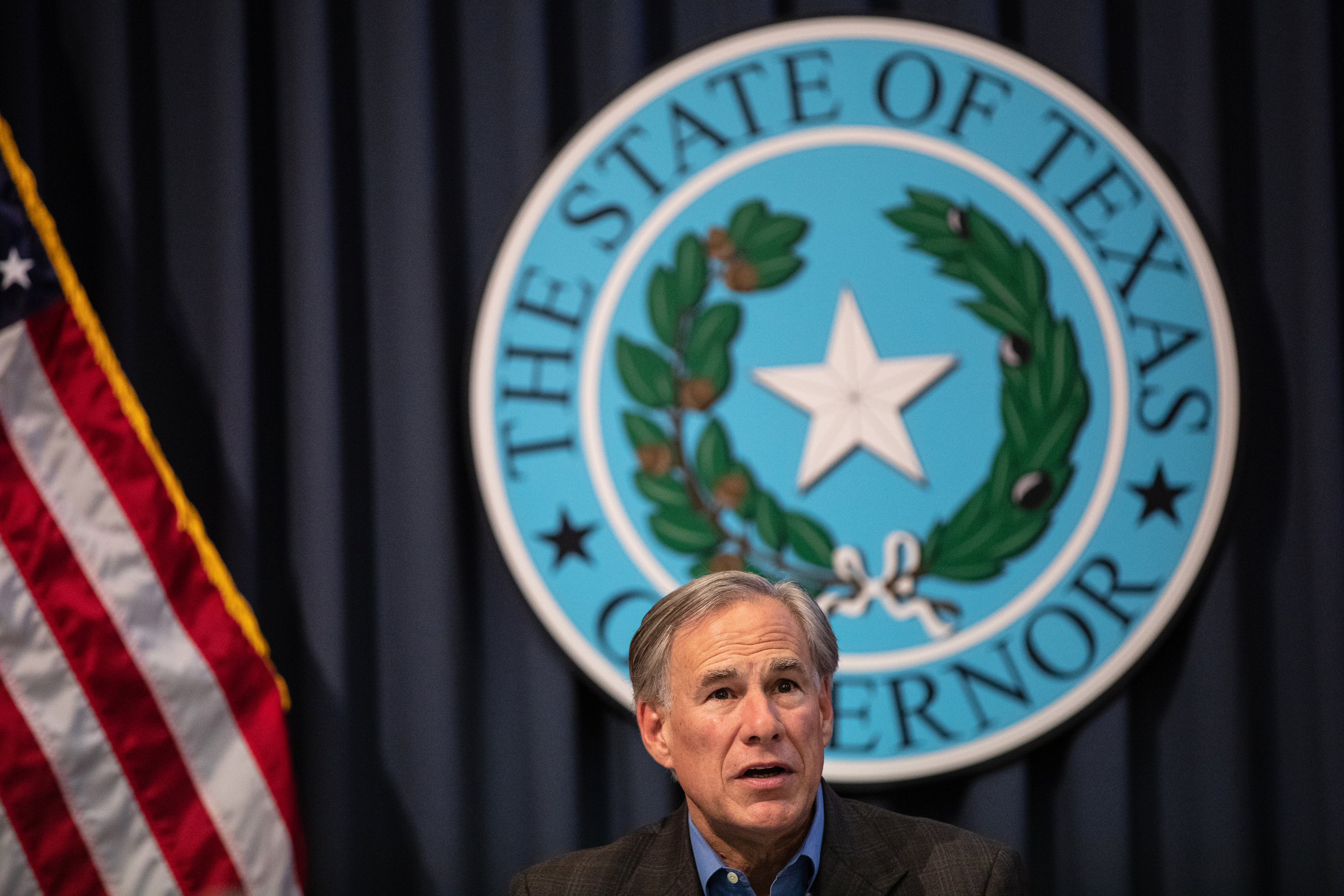 Texas Gov. Greg Abbott  at the Texas State Capitol in Austin, Texas. (Photo by Tamir Kalifa/Getty Images)
