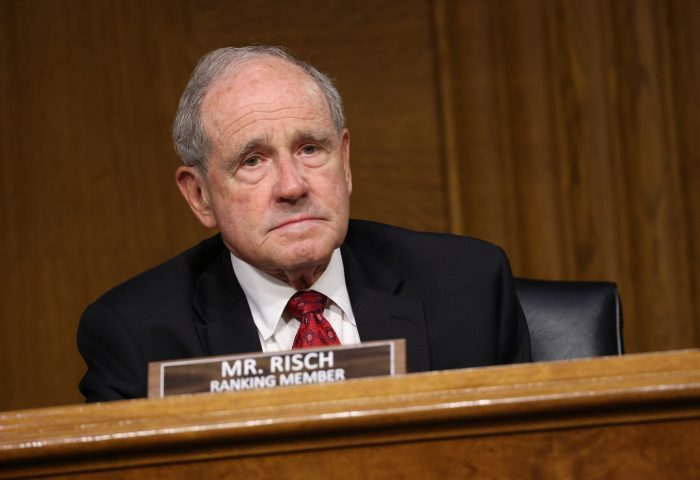 U.S. Sen. James Risch (R-Idaho) attends a Senate Foreign Relations Committee in Washington, D.C. (Photo by Kevin Dietsch/Getty Images)