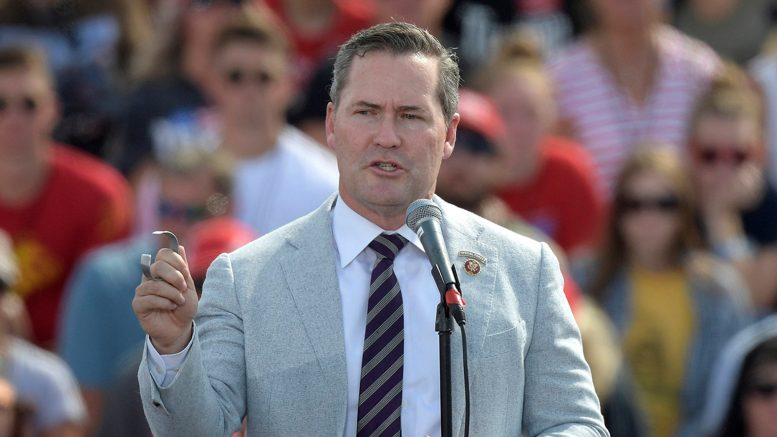 Rep. Michael Waltz (R-Fla.) speaks before President Donald Trump during a campaign rally at the Ocala International Airport in Ocala, Fla. (AP Photo/Phelan M. Ebenhack, File) (AP Photo/Phelan M. Ebenhack, File)