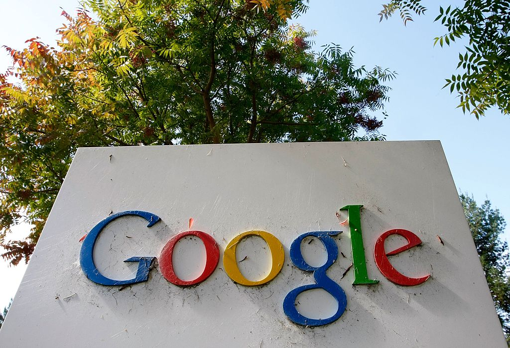 MOUNTAIN VIEW, CA - OCTOBER 18: The Google logo is seen on display at the company's headquarters October 18, 2007 in Mountain View, California. Google reported today that third quarter profits surged 46 percent to $1.07 billion, or $3.38 per share, compared to $733.4 million, or $2.36 per share one year ago. (Photo by Justin Sullivan/Getty Images)