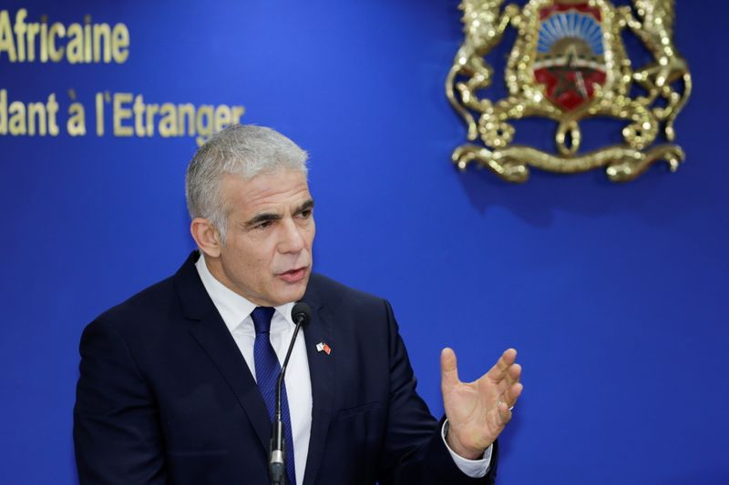 Israeli Foreign Minister Lapid meets with Moroccan Foreign Minister Bourita, in Rabat