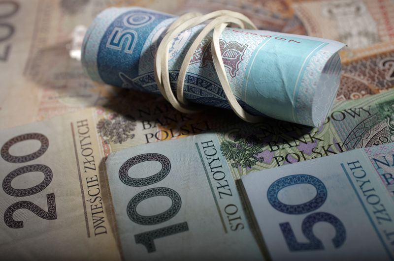 FILE PHOTO: A picture illustration of Polish zloty banknote