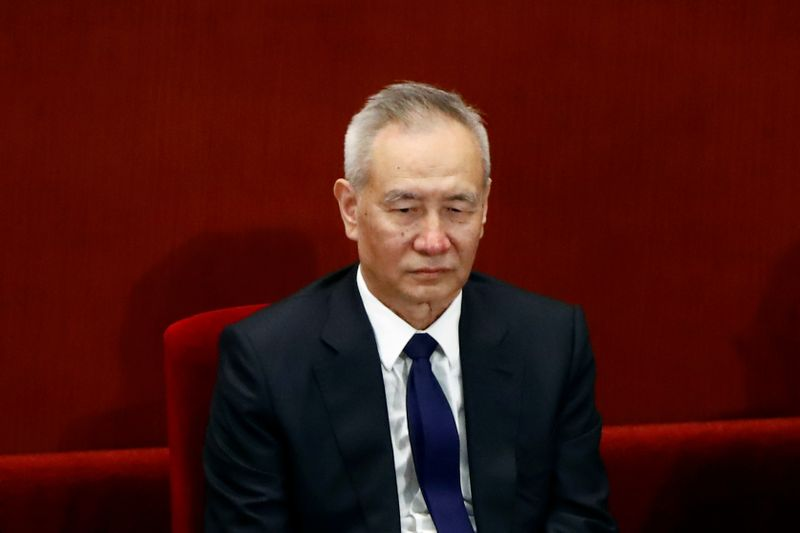 Chinese Vice Premier Liu He attends the closing session of CPPCC in Beijing