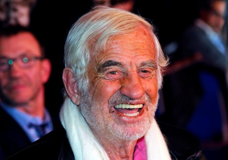 FILE PHOTO: French actor Jean Paul Belmondo attends the WBA-WBC-IBO Middleweight World Championship in Monte Carlo