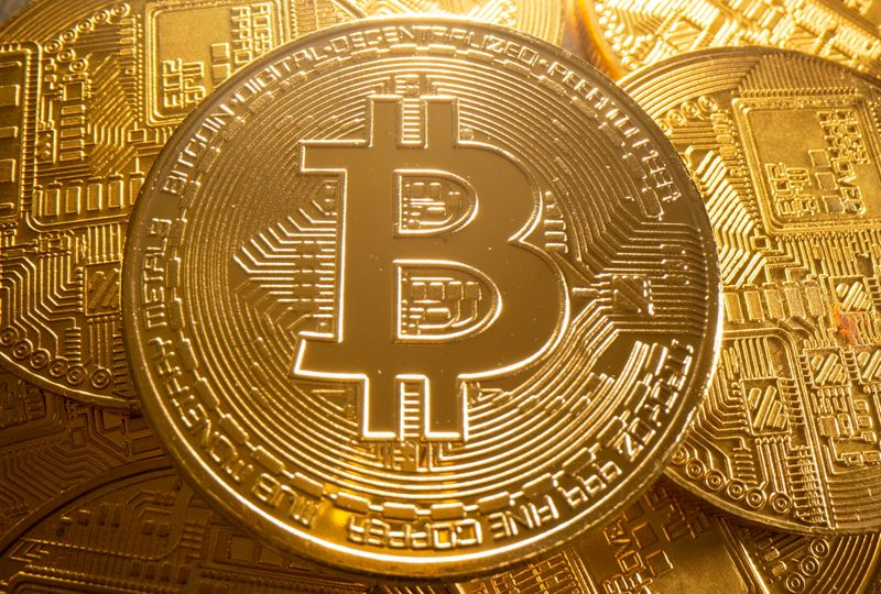 FILE PHOTO: Representation of cryptocurrency Bitcoin is seen in this illustration