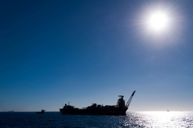 The abandoned Northern Endeavour oil production vessel is seen in the Timor Sea