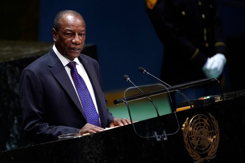 Guinea's President Alpha Conde addresses the 74th session of the United Nations General Assembly at U.N. headquarters in New York City, New York, U.S.