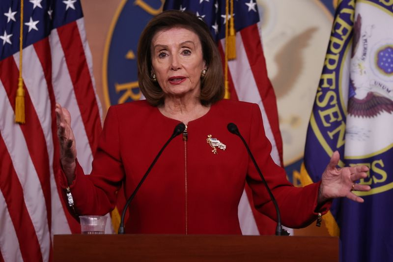 U.S. House Speaker Pelosi holds her weekly news conference at the U.S. Capitol in Washington