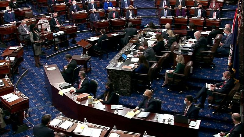FILE PHOTO: View of the U.S. Senate chamber on Capitol Hill in Washington