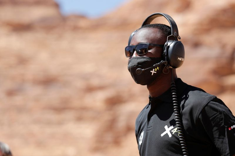 George Imafidon works with the off-road all-electric SUV racing series in Al-Ula