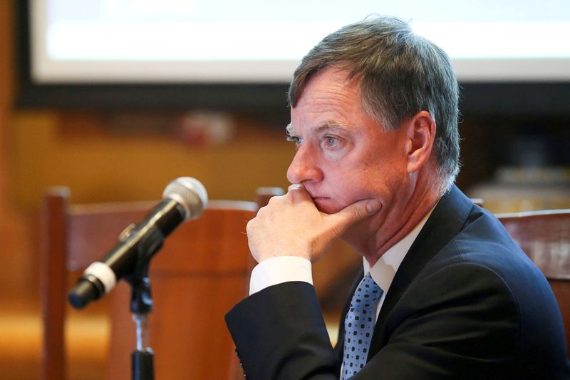 FILE PHOTO: Chicago Federal Reserve Bank President Charles Evans looks on during the Global Interdependence Center Members Delegation Event in Mexico City, Mexico