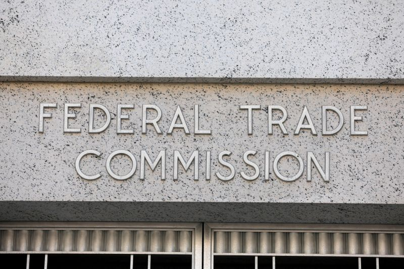 FILE PHOTO: Signage is seen at the Federal Trade Commission headquarters in Washington, D.C.