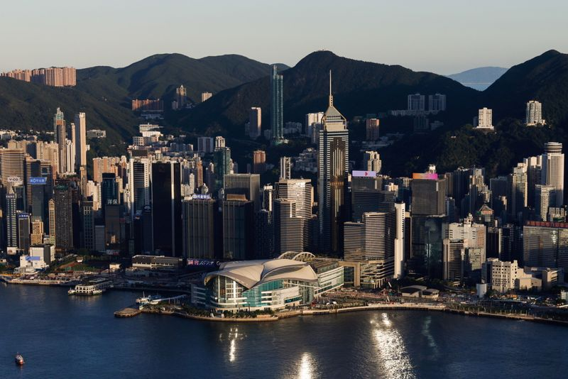 FILE PHOTO: A general view of the buildings on the skyline in Hong Kong