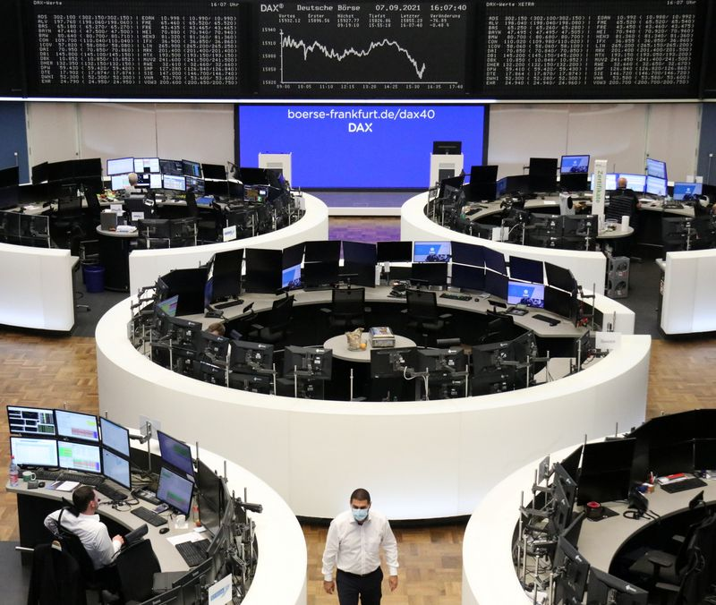 FILE PHOTO: German share price index DAX graph is pictured at the stock exchange in Frankfurt