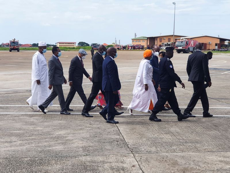 Envoy of the Economic Community of West African States (ECOWAS) for the Guinea crisis arrives in Conakry