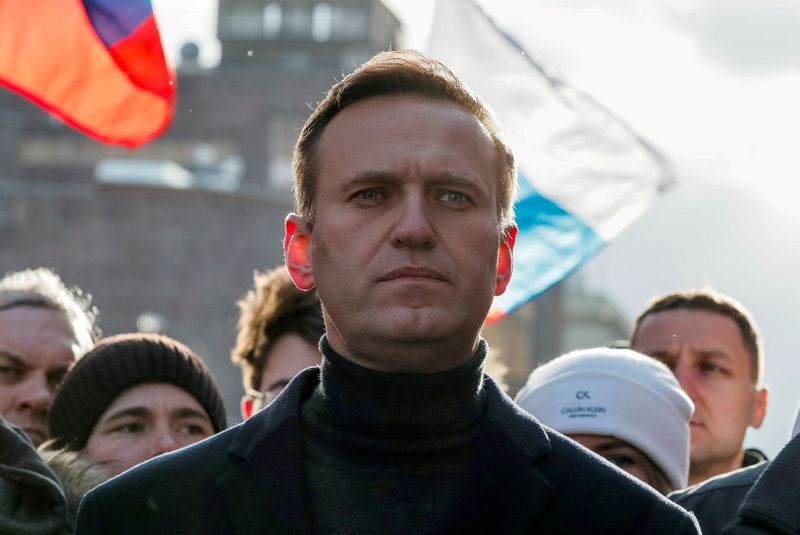 FILE PHOTO: Russian opposition politician Alexei Navalny is pictured in 2020 in Moscow