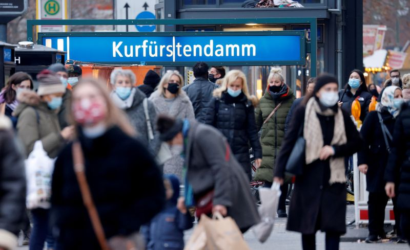FILE PHOTO: Christmas shopping amid COVID-19 outbreak in Berlin