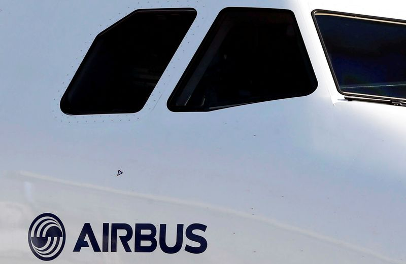 FILE PHOTO: An Airbus A320neo aircraft is pictured during a news conference to announce a partnership between Airbus and Bombardier on the C Series aircraft programme, in Colomiers near Toulouse