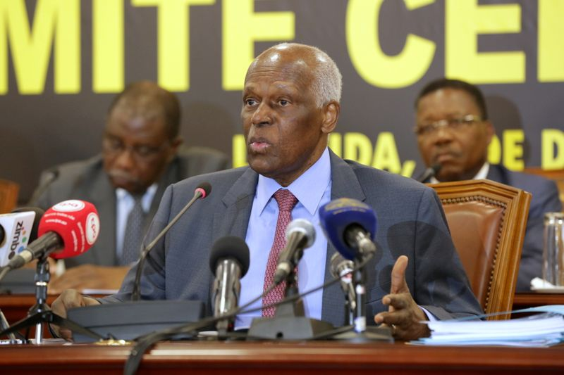 FILE PHOTO: Angolan President and MPLA leader, Jose Eduardo dos Santos attends a party central committee at a meeting in Luanda