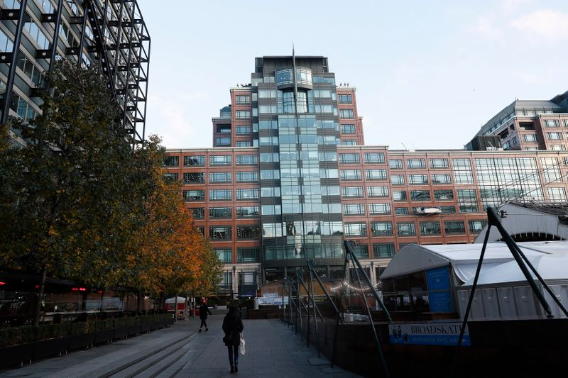 The headquarter of the European Bank for Reconstruction and Development (EBRD) is seen in London