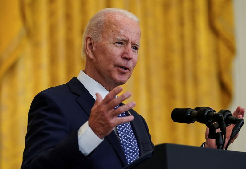 FILE PHOTO: U.S. President Biden hosts labor unions event at the White House in Washington