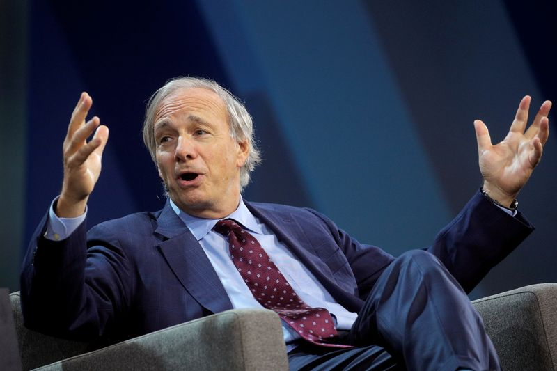 Dalio, co-chairman and co-chief investment officer of hedge fund Bridgewater, speaks in New York