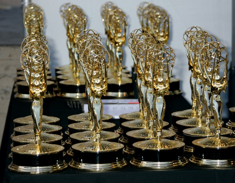 FILE PHOTO: Emmy Award statuettes are seen at the 2006 Creative Arts Emmy Awards in Los Angeles