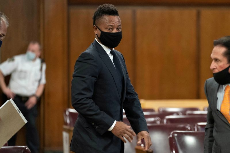 FILE PHOTO: Actor Cuba Gooding Jr. departs after a hearing at New York Criminal Court in the Manhattan borough of New York