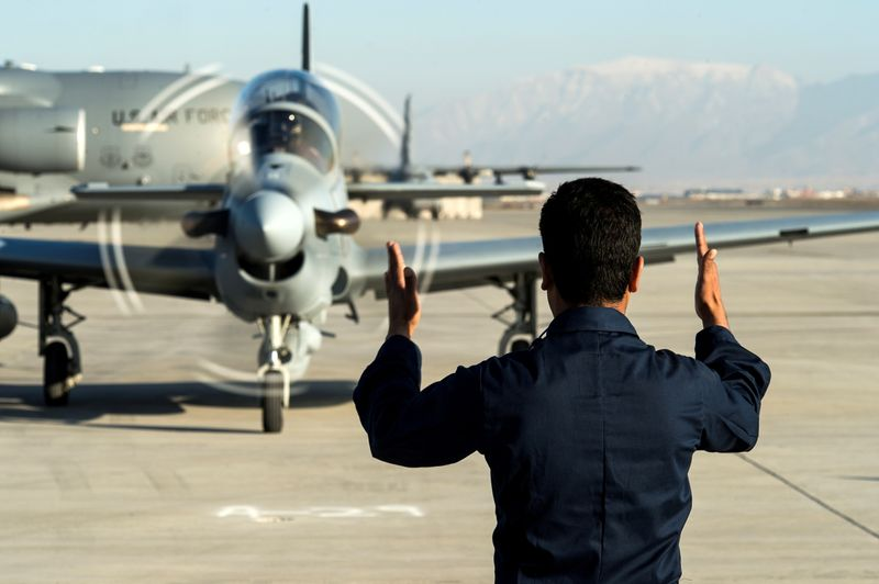 FILE PHOTO: Four Super Tucanos delivered to Afghan air force