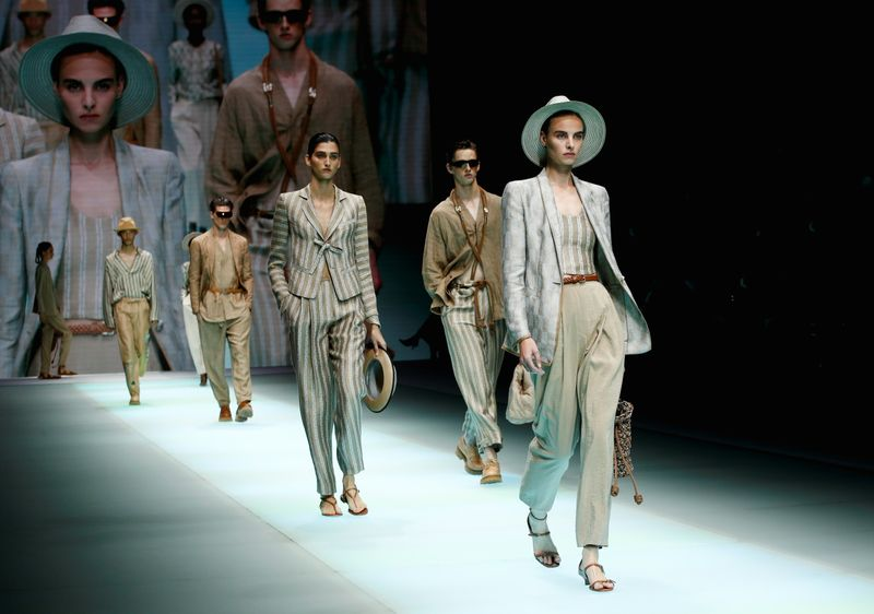 Emporio Armani presents its Spring/Summer 2022 creations during the Milan Fashion Week