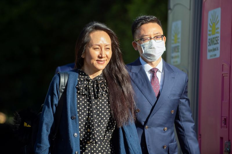 Huawei Technologies Chief Financial Officer Meng Wanzhou leaves her home to attend court in Vancouver