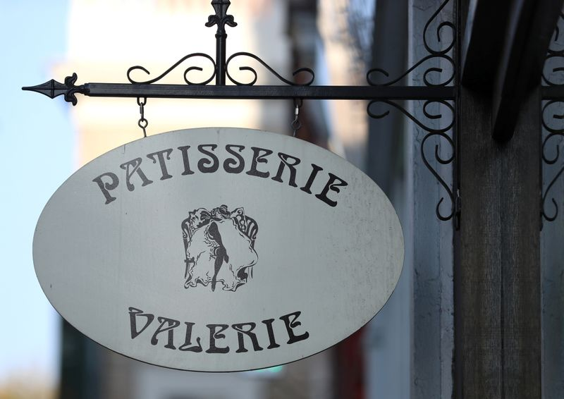 FILE PHOTO: A sign is seen outside a branch of Patisserie Valerie in London