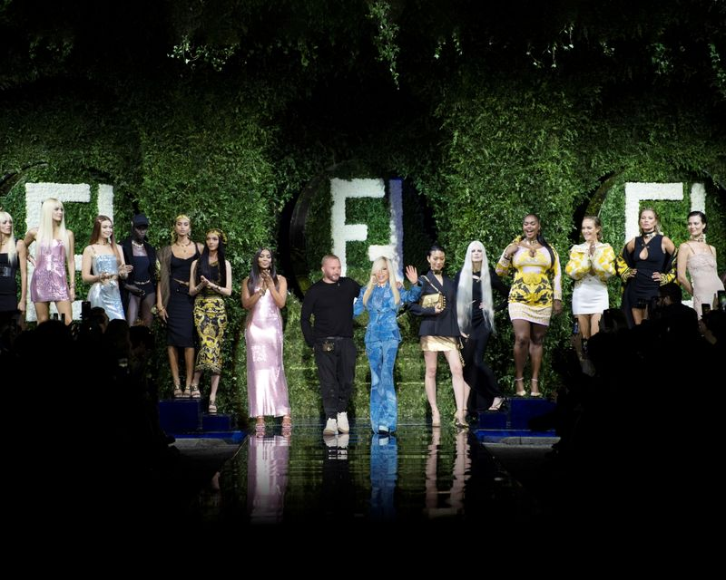 Versace by Fendi collection at the Milan Fashion Week