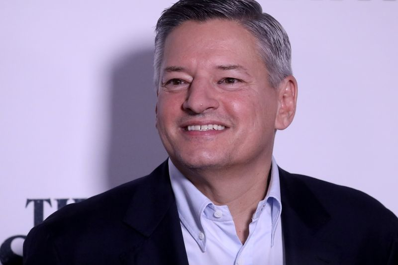 FILE PHOTO: Netflix executive Ted Sarandos arrives for the world premiere of his film