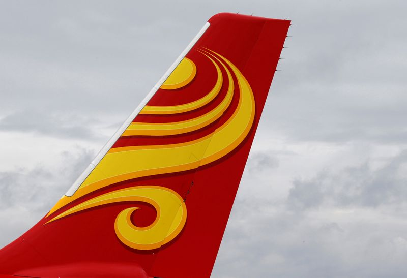 FILE PHOTO: A Hainan Airlines Airbus commercial passenger aircraft is pictured in Colomiers near Toulouse