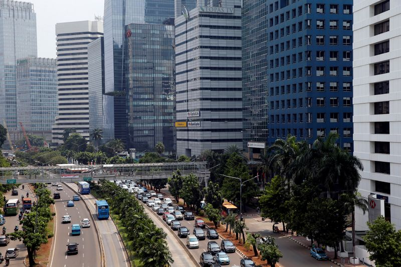 Aerial view of Sudirman Business District in Jakarta